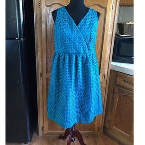 NWT Lane Bryant Turquoise Surplice Bustline Dress